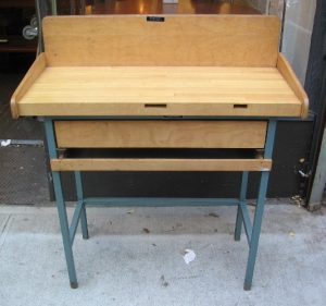 1960s Allcraft Metal Framed Work Table