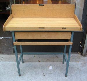 1960s Allcraft Metal Framed Work Table