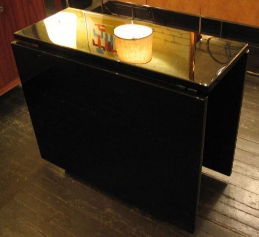 Black Lacquered Gate Leg Table