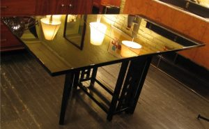 Black Lacquered Gate Leg Table