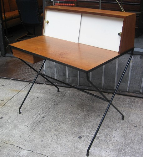 Arthur Umanoff Iron and Walnut Desk