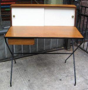 Arthur Umanoff Iron and Walnut Desk