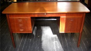 1960's Double Pedestal Teak Desk from Denmark
