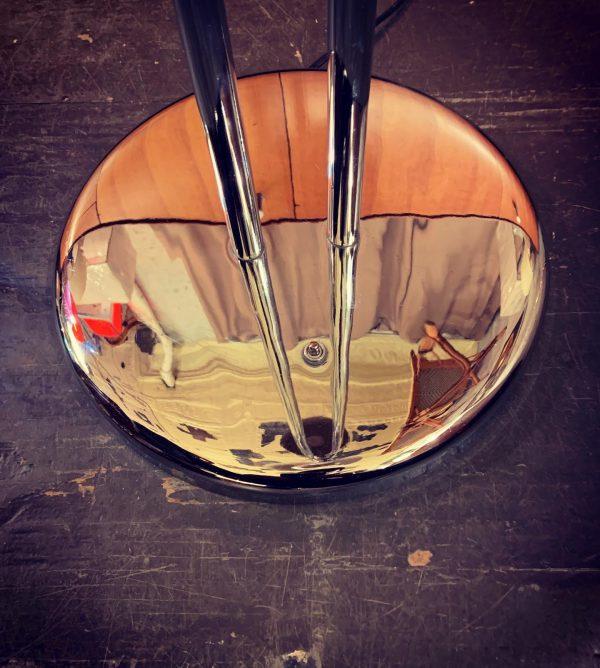 Dual Head Chrome Parallel Bar Floor Lamp by Robert Sonneman