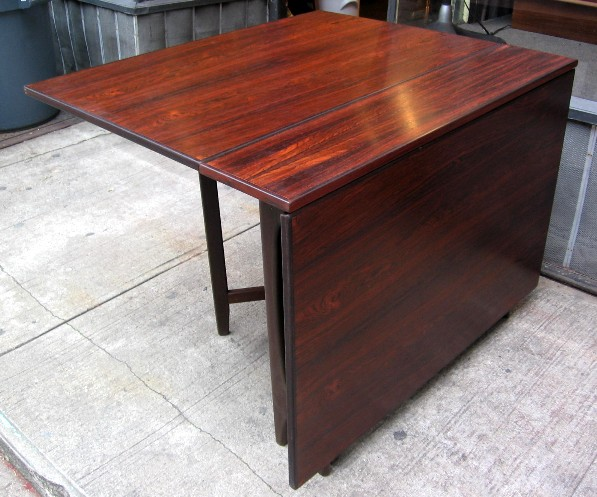Brazilian Rosewood Gate Leg Dining Table