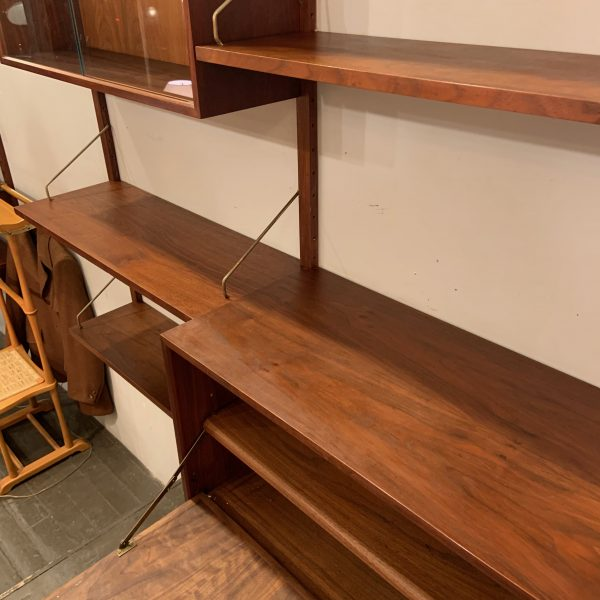 Two Bay Royal Wall System by Poul Cadovius in Walnut