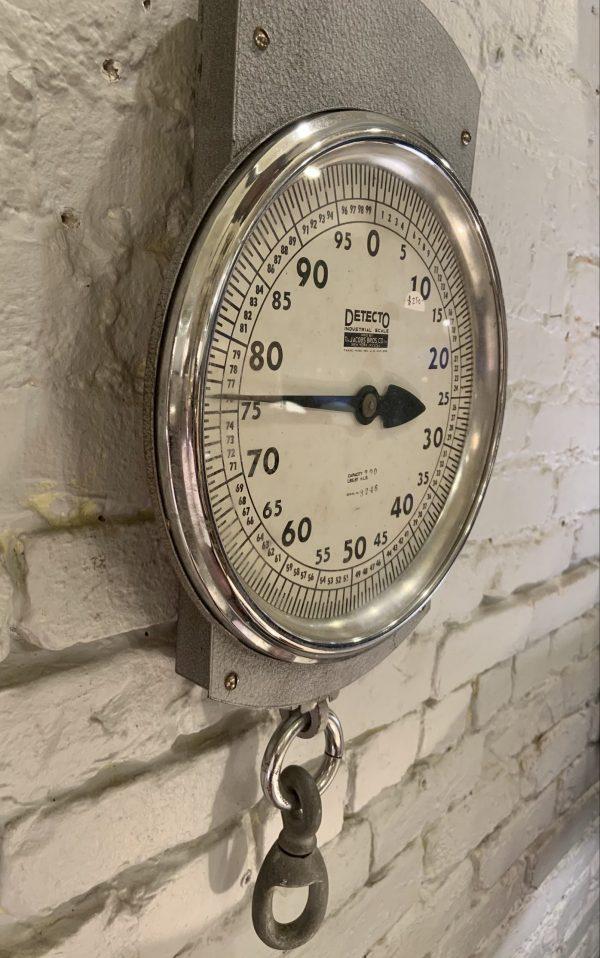 Massive Vintage Industrial Hanging Detecto Scale