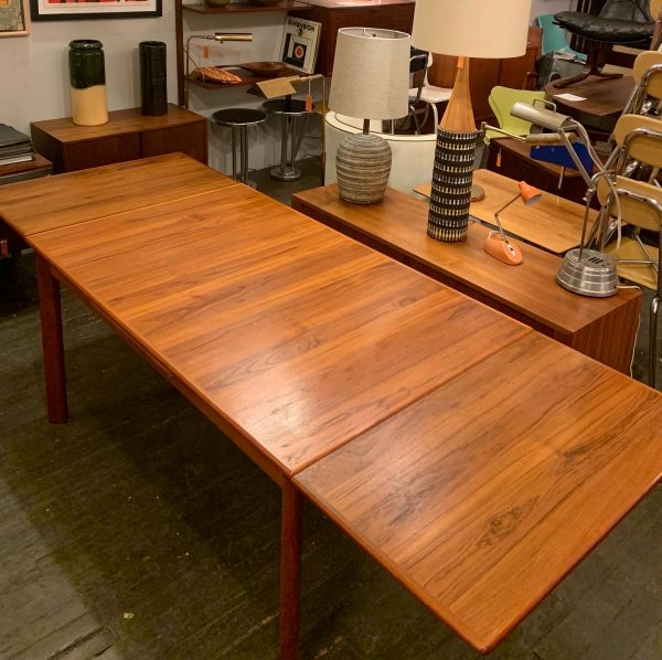 Teak Draw Leaf Extension Dining Table from Denmark