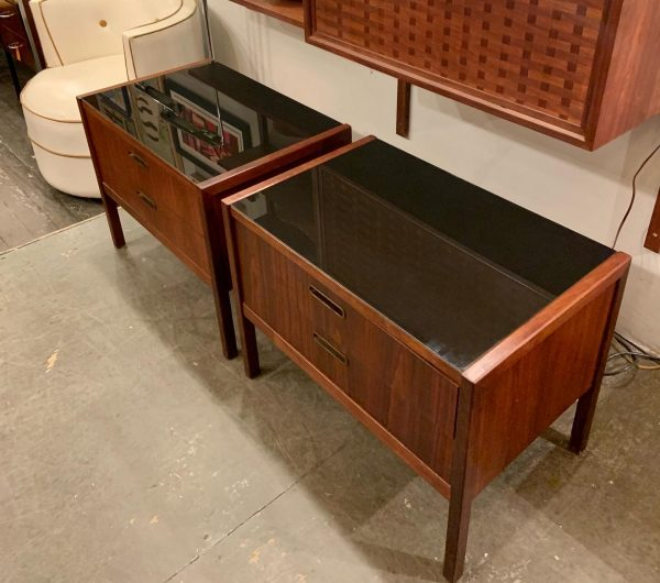 with Black Glass Tops
