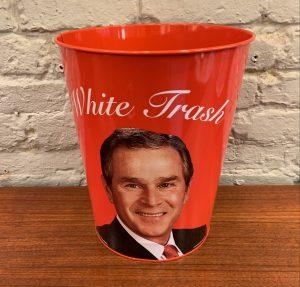 George W. Bush White Trash Wastebasket