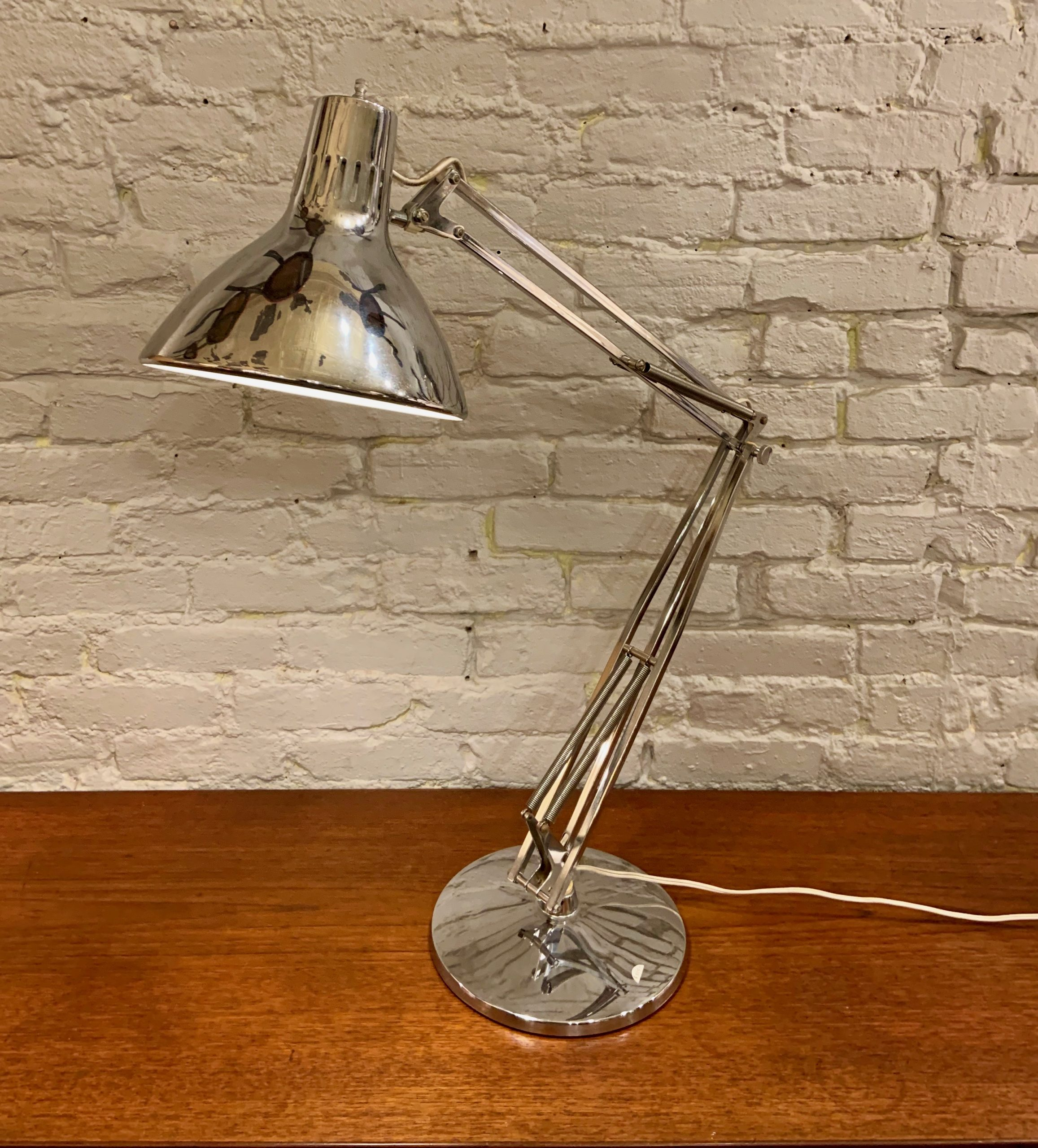 Luxo Chrome Table Top Task Lamp