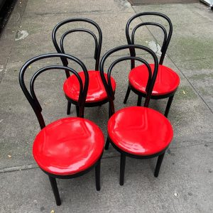 Set of Four Bentwood Thonet Style Cafe Chairs