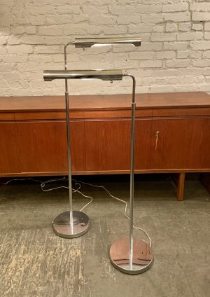Stylized Chrome Pharmacy Lamps by Koch and Lowy