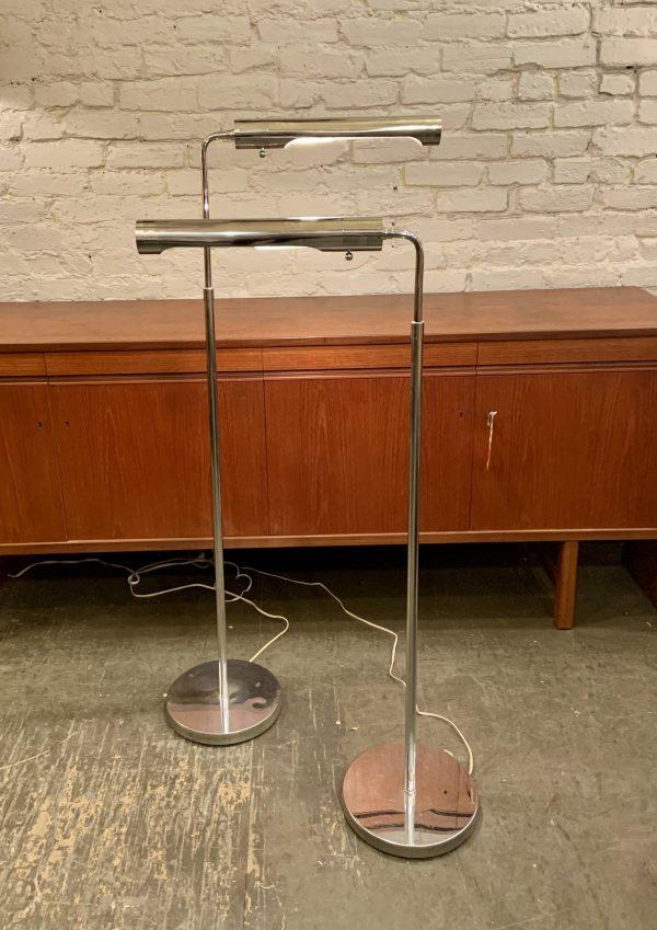 Stylized Chrome Pharmacy Lamps by Koch and Lowy