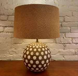 Ugo Zaccagnini Ceramic Orb Lamp with Polka Dots