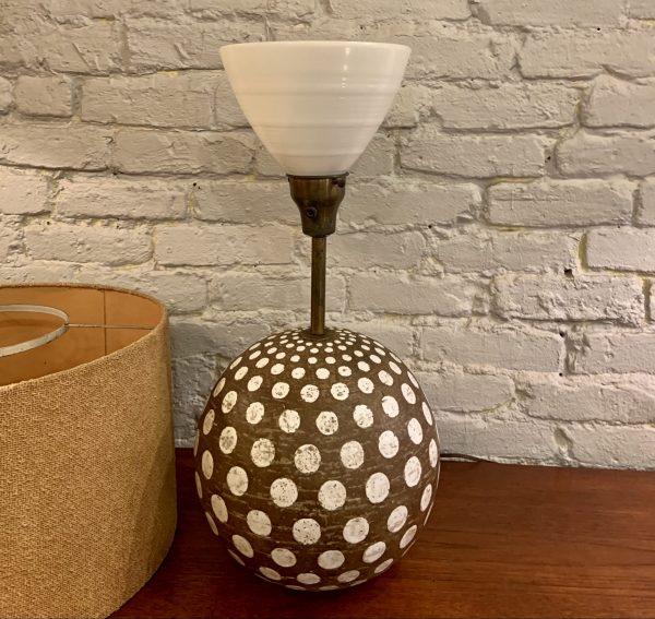 Ugo Zaccagnini Ceramic Orb Lamp with Polka Dots