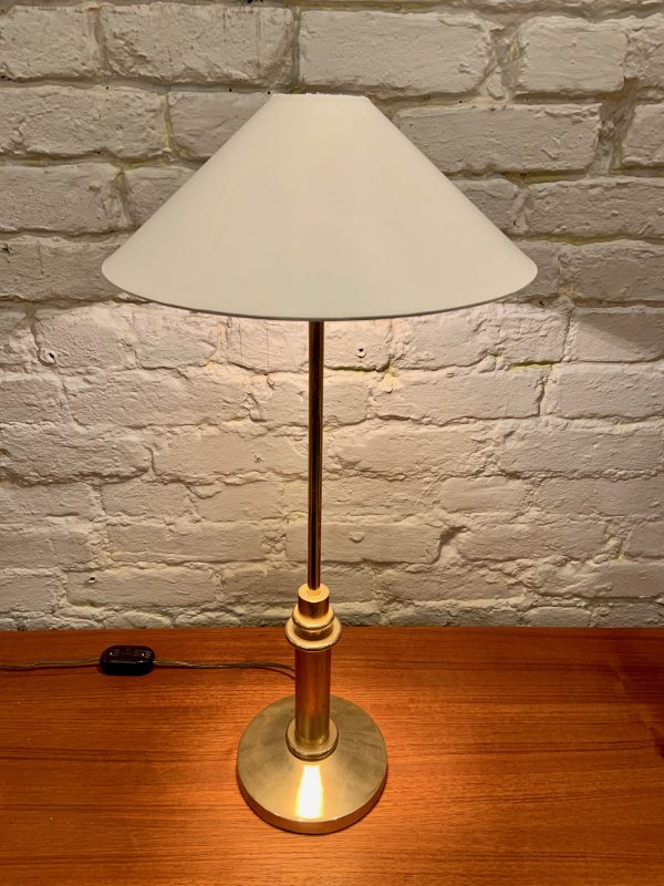 Small Brass Telescoping Table Lamp