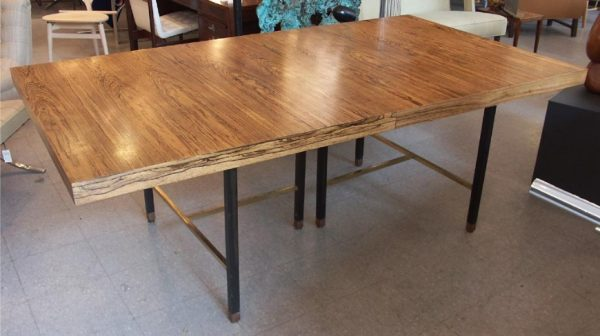 Massive Harvey Probber Bleached Rosewood Dining Table