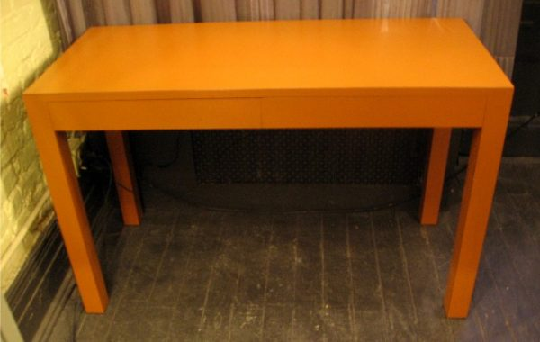 Two Drawer Parsons Style Writing Table