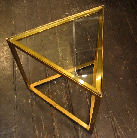 High Quality Tubular Brass/Nickel and Glass Occasional Tables