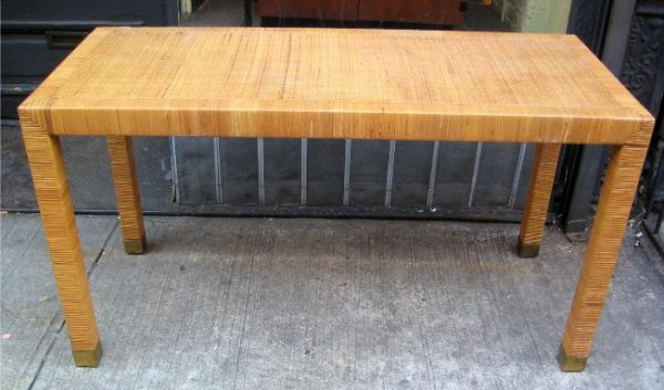 Caned Parsons Console/Writing Table