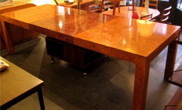 Milo Baughman Burlwood Parsons Dining Table