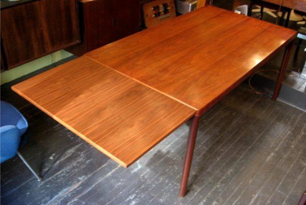 Large Danish Draw Leaf Table designed by Henning Kjaernulf