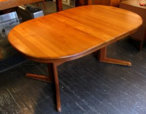 Solid Teak Dining Table by H.W. Klein Bramin Denmark
