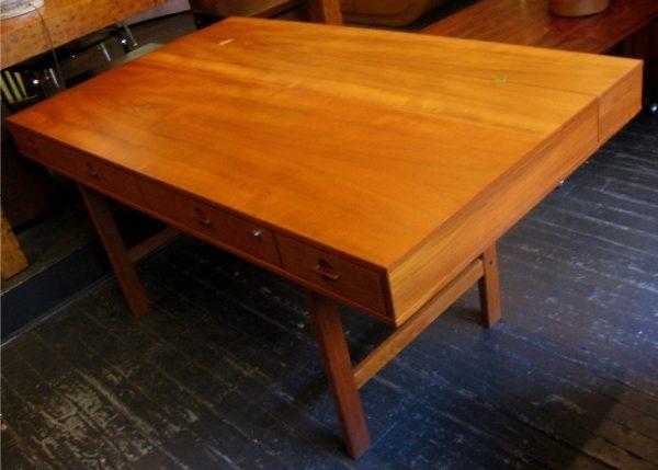 Teak Flip Top Desk by Lovig