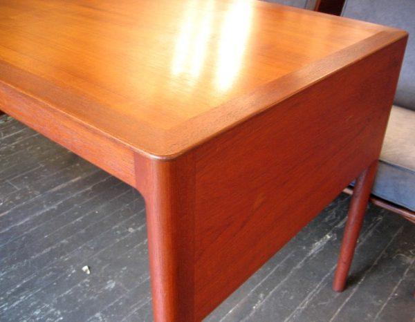 Danish Single Pedestal Teak Desk
