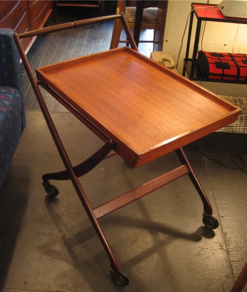 Danish Folding Teak Tea Cart