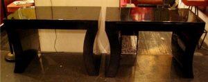 Oversized Lacquered Goatskin Bedside Tables by Karl Springer