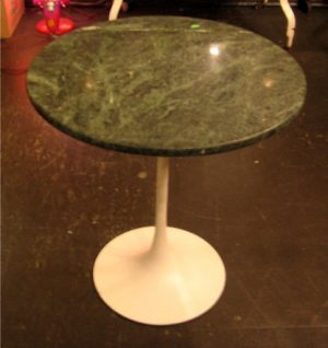 Saarinen Style Tulip Side Table with Marble Top