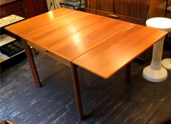 Square Teak Draw Leaf Dining Table