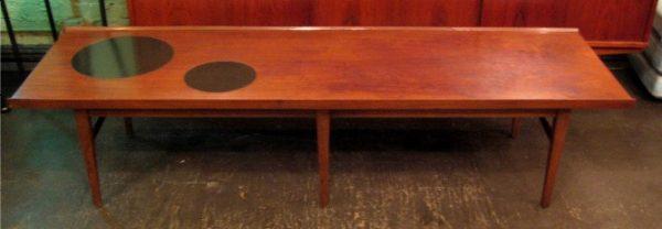 Long Walnut Coffee Table