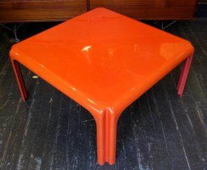 Orange Coffee Table by Vico Magistretti