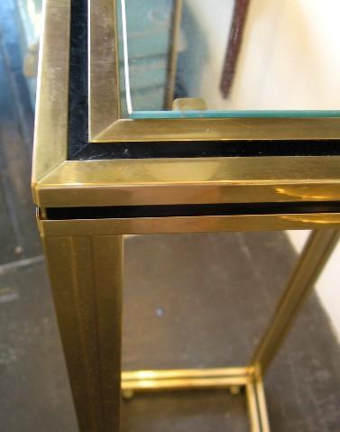 Pierre Vendel Aluminum and Glass Pedestal