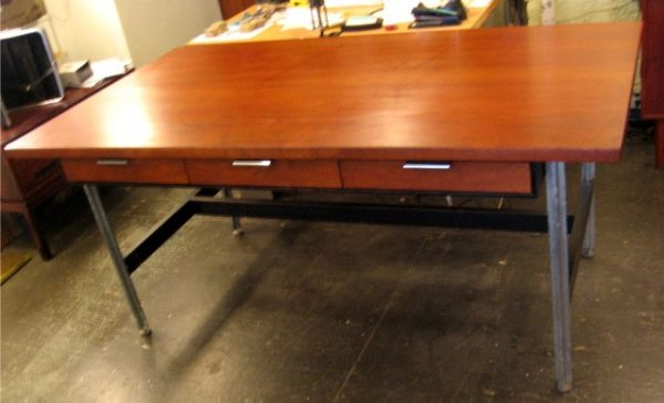 Teak Desk by John Stuart