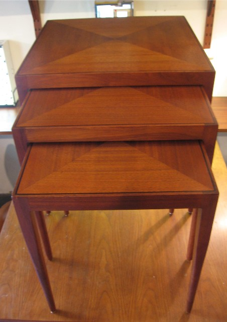 Set of Three Nesting Tables by Calvin for Directional