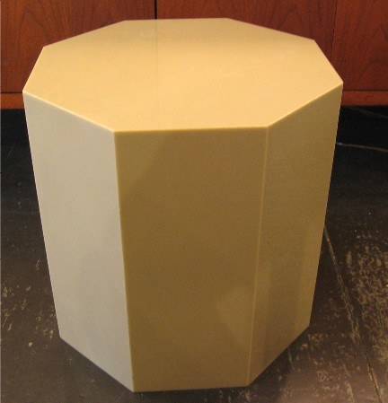 Octagonal Shaped Plastic Side Table