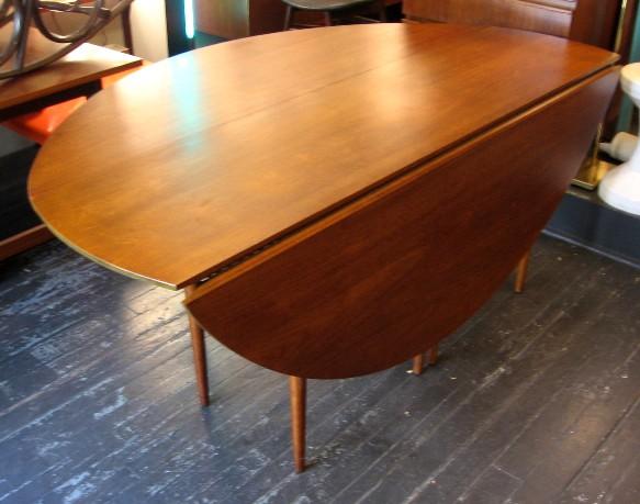 Large Walnut Double Gate Leg Dining Table