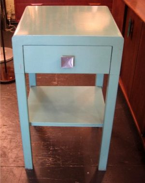 Simmons Painted Metal Bedside Table