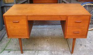 Double Pedestal Teak Desk from Denmark
