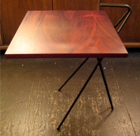 Grasshopper Table in Iron and Rosewood