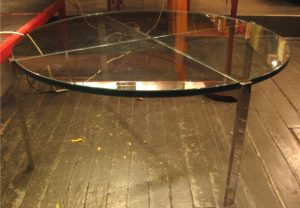 Polished Stainless Steel Coffee Table