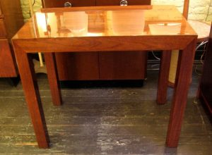Small Walnut Parsons Style Writing Table