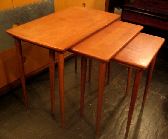 Set of Teak Nesting Tables from Sweden
