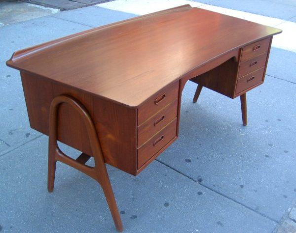 Svend Madsen Curved Teak Desk