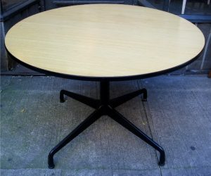Eames Aluminum Group Table with Ash Top