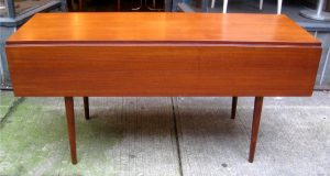 Teak Drop Leaf Harvest Dining Table